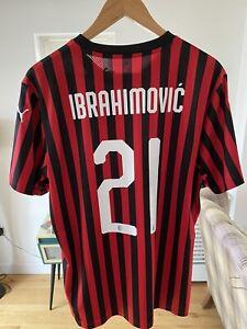 BNWT Zlatan Ibrahimović AC MILAN #21 2019-20 Home Shirt. Men's size LARGE.