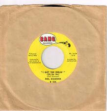 NEIL DIAMOND I Got The Feelin' b/w The Boat I..1966 45 RPM Bang B-536 Vinyl EX+!