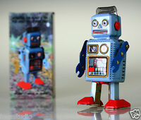Retro Wind Up Radiocon Robot Tin Toy Vintage Style Collectable Clockwork Gift UK