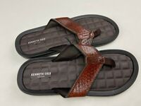 Kenneth Cole Reaction Men's Kylo Thong Sandals Flip Flops Brown Size 12 NEW
