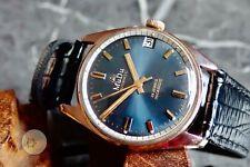 Mens vintage AUTOMATIC Swiss watch MUDU Allaine 25 J  CA65 FELSA 4007N blue dial