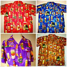V Neck Regular Size Hawaiian Casual Shirts & Tops for Men