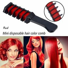 Red Color Temporary Hair Chalk Hair Comb Dye Salon Kits Party Fans Cosplay