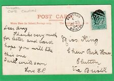 More details for 008 numeral cancel 1904 clutton bristol single circle postmark on pc aj833