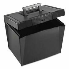 Pendaflex Portable File Storage Box Letter Plastic Black Pfx20861