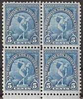 US Stamp - 1932 5c L.A. Olympics - Block of 4 Stamps VF MNH - Scott #719