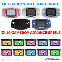 GameBoy Advance / GBA Konsole (Farbe nach Wahl) + 10 Nintendo GB Spiele