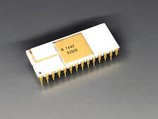 Signetics 82S09 - Early Static RAM with Parity - NOS,N82S09I,White,Gold,SRAM