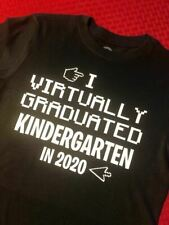 i virtually graduated kids t-shirt various grades kindergarten covid lockdown