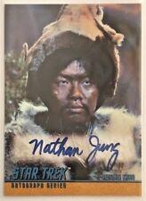 More details for star trek original series autograph nathan jung as (genghis khan) a84 mint