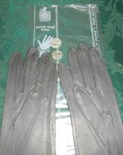 "Confederate Grey 12"" French Kid Gloves - Roger Fare -  Size 7-1/2"