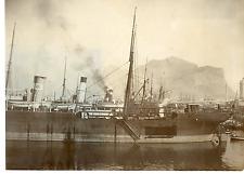 Italie, port de Palerme, bateau croisière Vintage albumen print  Tirage albumi
