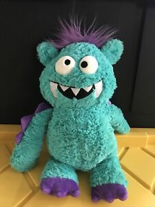 "Gund Monsteroos WINGER Teal Blue Purple Soft 14"" Plush Monster 4040192"