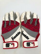 Franklin Batting Gloves Youth Large - Red White Gray -