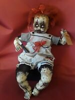Sinisterly Sissy's 'Agnus' Undead,Spooky,Creepy,Haunted,Goth, 21 inch