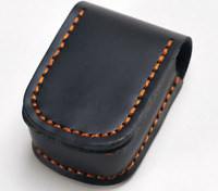 Men purse Bag belt Waist fanny Pack wallet pocket Cow Leather Pouch black 530