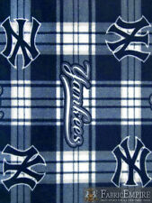 MLB New York Yankees Plaid Licensed Fleece Fabric NL-MLB-44-OT