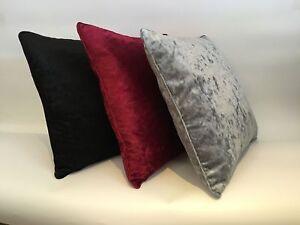 Plain Crushed Velvet Cushion Covers Luxury Plush18' X 18' 24' X 24' 30X30 INCHES
