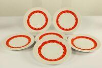 6 x Kuchen Teller ∅ 19,3 cm Thomas Arcta Orange Porzellan Service