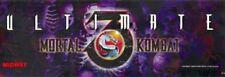 "Ultimate Mortal Kombat 3 Arcade Marquee 26"" x 8"""