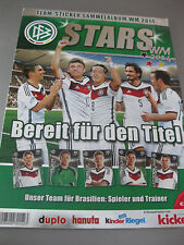 DFB Stars WM 2014 Team Sticker Sammelalbum leer NEU Album Duplo Hanuta Kicker