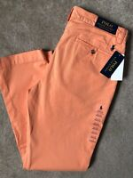 "RALPH LAUREN POLO ORANGE M CLASSICS BEDFORD CHINOS TROUSERS PANTS  32""  NEW TAGS"
