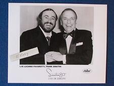 "Original Press Promo Photo - 10""x8"" - Luciano Pavarotti & Frank Sinatra - 1990's"