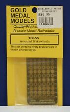Gold Medal Models 160-55 N Scale Etched Metal Assorted Brakewheels (90) MIP
