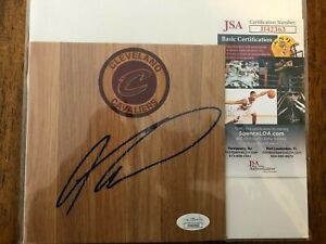 Cleveland Cavaliers Andre Drummond Autographed Basketball Floorboard