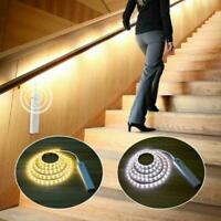 Battery Powered LED Strip Lights Wireless PIR Motion Wardrobe Sensor Stair J3J5
