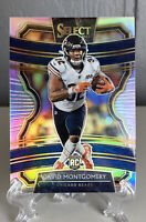 David Montgomery 2019 Select Concourse Silver Prizm RC Chicago Bears