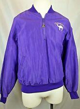 Vintage Camel Cigarettes Starter Jacket Pullover 1/2 Zip - Large L - Purple