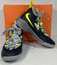 Nike Future Court 2 Kid's Size 2.5 Black/Green Athletic Training Shoes X5-1620