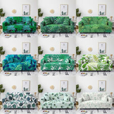 Sofa Cover Leaf Series Full-cover Slipcover Protector Stretch Polyester Fabric
