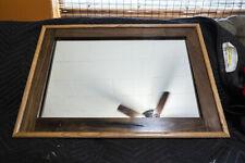 """Rustic Walnut Mirror 2 3/4"""" w/ Oak Trim 29"""" x 20"""" HANDMADE"""