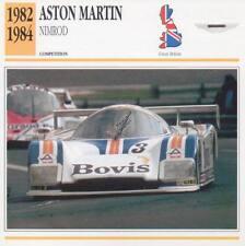 1982-1984 ASTON MARTIN NIMROD Racing Classic Car Photo/Info Maxi Card