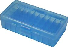 MTM PLASTIC AMMO BOX, BLUE 50 Round 40 S&W / 45 ACP - BUY 5 GET 1 FREE