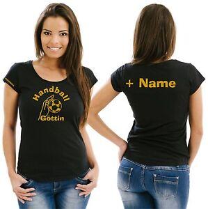 Handball Damenshirt Girlieshirt Trikot Damen T-Shirt  Training Geschenk EM 11
