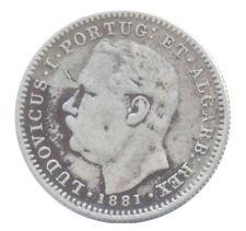 1881 India-Portuguese GOA 1/2 Rupia KM# 311 Choice Very Fine Condition