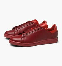 Adidas x Raf Simmons red leather Stan Smith B22544 size uk 9 New with box