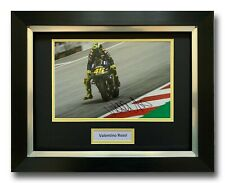 VALENTINO Rossi a mano firmato incorniciato photo display-YAMAHA MOTOGP Autografo.