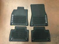 LEXUS LS460 2013-2016 4 PCS BLACK ALL WEATHER FLOOR MATS RWD SWB PT908-50130-20