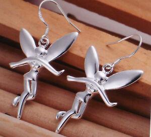 Damen Ohrringe Ohrhänger Elfe Farbe Silber 0825