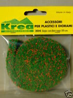 Siepe verde con fiori rossi per plastico o diorama cm. 50 - Krea Modellismo 304