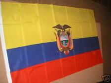 ECUADOR  FLAG FLAGS 5'X3' BRAND NEW POLYESTER POST FREE IN UK