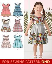 SEWING PATTERN! MAKE DRESS~SUNDRESS! CHILD~GIRL! SIX STYLES~SIZES 3~8!