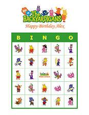 Backyardigans Nick Jr. Personalized Birthday Party Game Bingo Cards