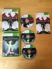 Dragon Age Bundle Lot II 2 & Inquisition Xbox 360 Clean Tested Fast Shipping