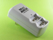 Compact 9V Charger two channels for Li ion & NiMH auto cutoff upon full charge