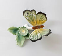 9941657 Schmetterling mit Blüte grün Ens Thüringen 8x10x6cm